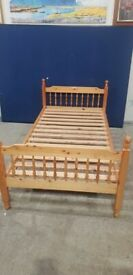 Solid Pine Single Bed Frame No161113