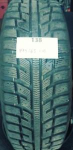 PNEUS HIVER USAGÉS / USED WINTER TIRES 195/65R15 19565R15 91 T MARSHAL IZEN KW22 (4 DE DISPONIBLES)