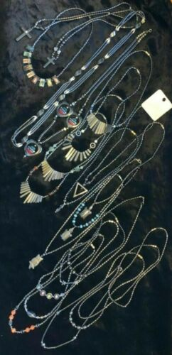 NECKLACES - bulk lot - 23 hematite necklaces, 1 w/Sterling clasp & beads, 1 NWT