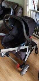 MotherCare Baby Buggy & Car Seat (With Accessories)