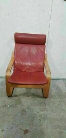 Ikea Leather Armchair No201016