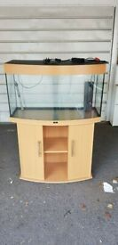 Juwel vision 180 litre fish tank and stand bow front 3ft setup 75