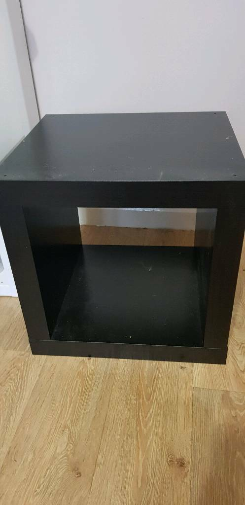 Ikea Kallax Expedit Cube Bedside Table With Material Storage Box In