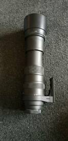 Sigma 150-500mm telephoto lens Canon Fit