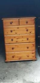 **NOW SOLD**Solid pine chest of drawers