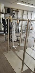 CLOTHING RACK, GARMENT RACKS - $60ea