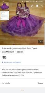 Princess Expressions Lilac Tutu Dress  Size Medium-Toddler