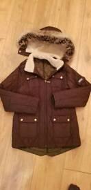 Girls Barbour hooded jacket