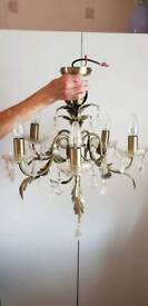 5 light chandelier, 2 available