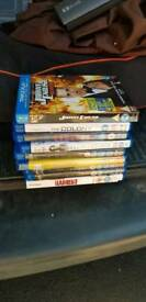Blu rays £1 each or £6 the lot