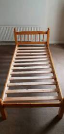 Cheap SINGLE wooden bed frame