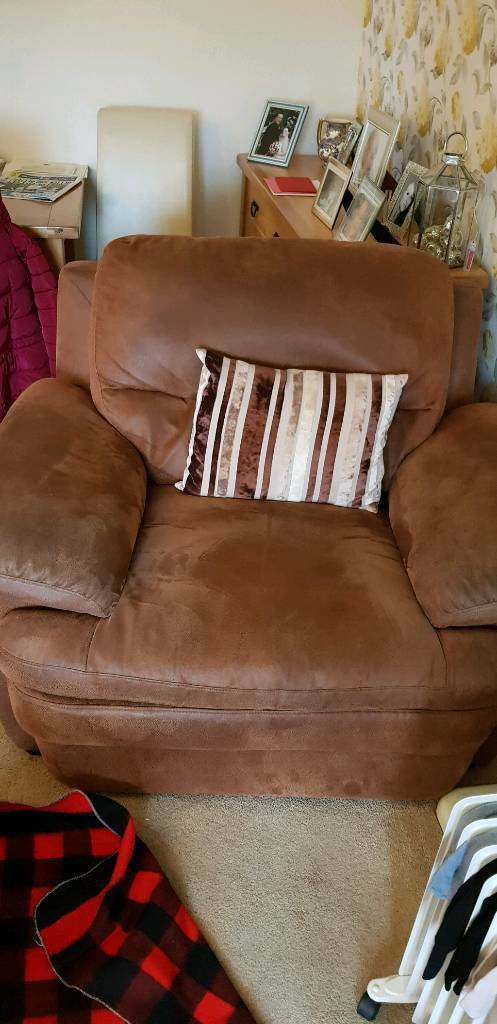 Sofa And Chair With Poof In Sheffield South Yorkshire