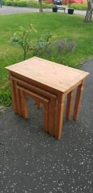Wooden stacking tables