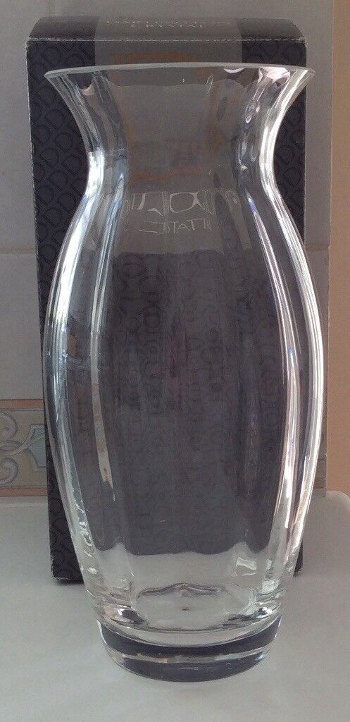 New Large Dartington Crystal Vase In Danescourt Cardiff Gumtree