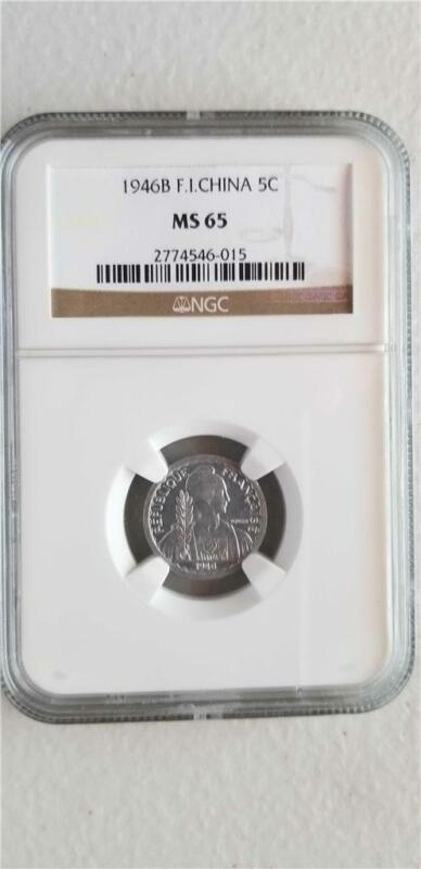 French Indochina 5 Cents 1946B NGC MS 65