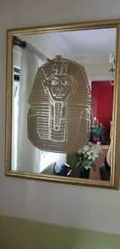 Gold Egyptian mirror
