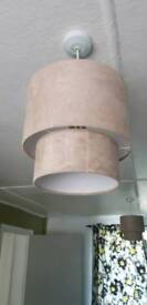 2, 2 tiered lampshade in cream