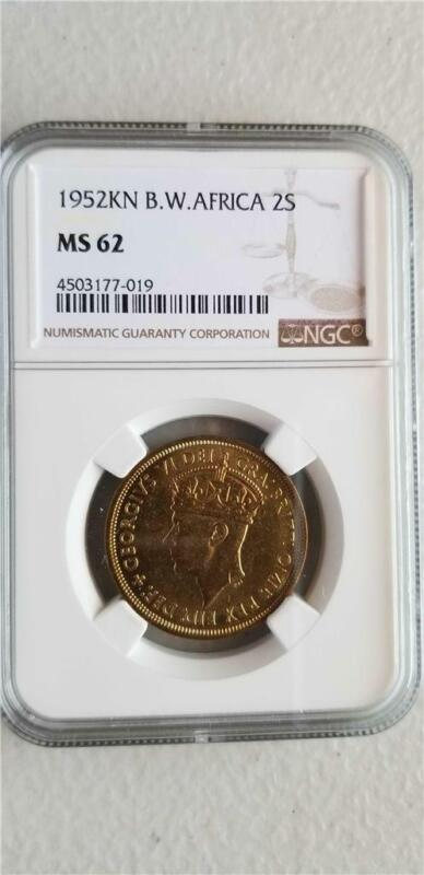 British West Africa 2 Shillings 1952KN NGC MS 62