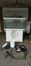 juwel rio 350 litre fish tank and cabinet 4ft external filter delivery