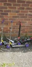 SOLD4 x scooters. Varying quality and condition. All ridable