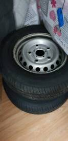 BARGAIN 215 65 15 new tyres with nearly new steel rims