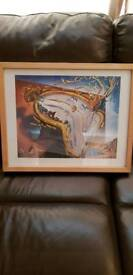 Dali picture in chunky frame