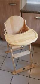 Wooden High Chair - UNUSED