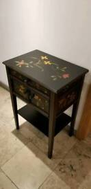Floral pattern console table