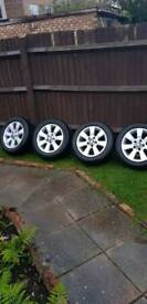 BMW 16' alloy wheels with tires