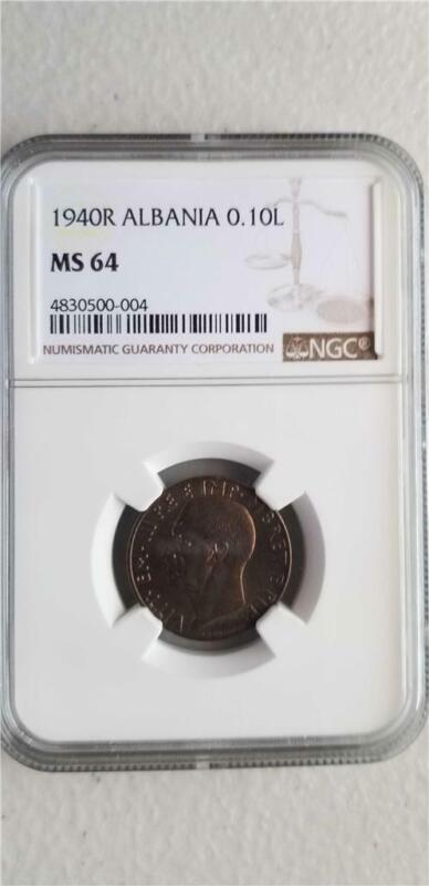 Albania 0.10 Lek 1940R NGC MS 64