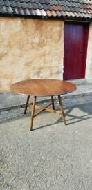 Ercol Table Vintage Oval Dropleaf Dark Elm