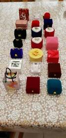 Collection of small jewellery boxes
