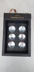 Crystal Drawer Pulls/Knobs - 6pk