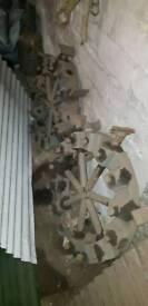 Vintage tractor wheel strakes