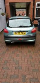 Peugeot 206 1.1 lx engine, Petrol, Green, 129000 mileage.