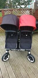 Bugaboo donkey duo pram with carrycots (excellent condition)
