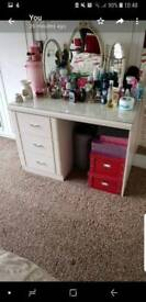 Dressing table with matching bedside cabinet
