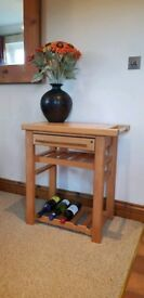 Kitchen Butchers Block Side Table Solid Pine