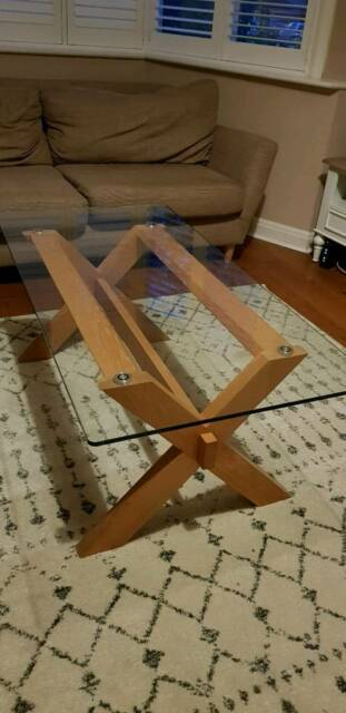 Coffee Table Glass On Oak John Lewis In Brentford London Gumtree