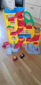 Fisher Price sit and stand skyway track with 2 cars (63cm high)