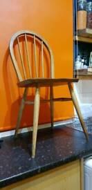 1 x Pine Chair PLUS 2 Vintage Ercol Blonde Windsor