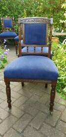 5 vintage victorian chairs