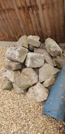 Selection of rocks for garden