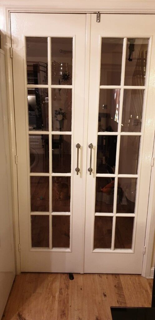 White Inter Ea French Doors 6ft 8 By 1ft 9 Can Be Cut Down