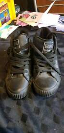 British knight black trainers size 5