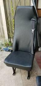 Campervan seat with intergrated seatbelt