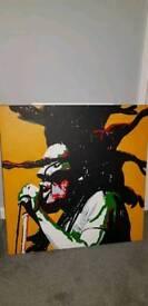 Bob Marley oil canvas