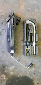 Vw caddy spare wheel jack and spanner set