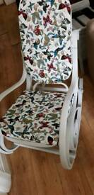 Vintage painted Bentwood rocking chair