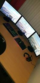 Entire Gaming Pc Setup AND FREE DESK AND OFFICE CHAIR